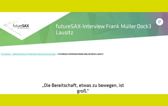 futureSax hat uns über die Lausitz als Gründungsregion, Netzwerke oder Tipps für Gründungswillige gesprochen.