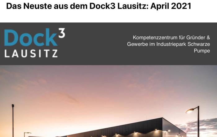 Der April-Newsletter aus dem Dock3 Lausitz wurde verschickt.