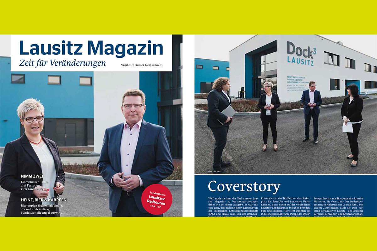 Titelgeschichte des Lausitz-Magazin im Dock3 produziert