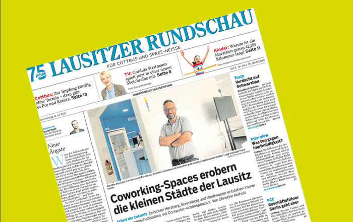 Coworking im Dock3 Lausitz - die Lausitzer Rundschau berichtet