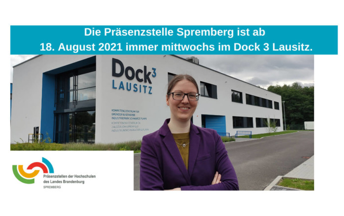 Die BTU-Präsenzstelle Spremberg berät regelmäßig Unternehmen im Dock3 Lausitz.