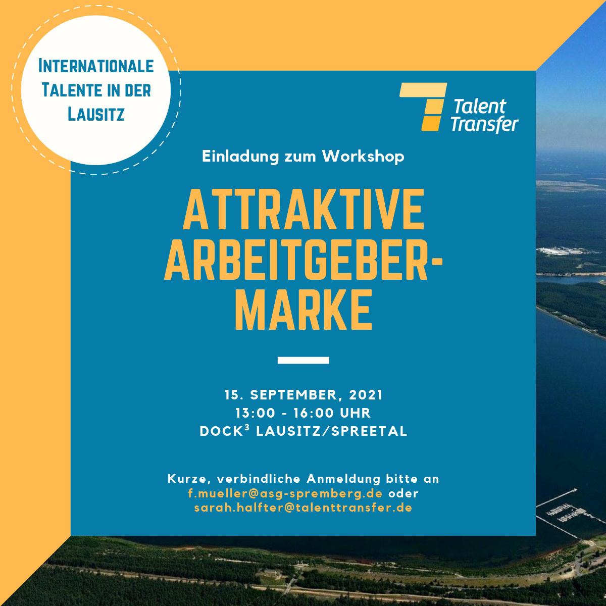 Am 15.09.21 findet im Dock3 Lausitz ein Workshop zum Thema Arbeitgebermarke statt.