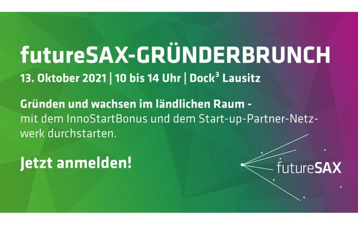 Am 13. Oktober 2021 veranstaltet futureSAX den Gründerbruch zum Thema Gründen und wachsen im ländlichen Raum im Dock3 Lausitz.